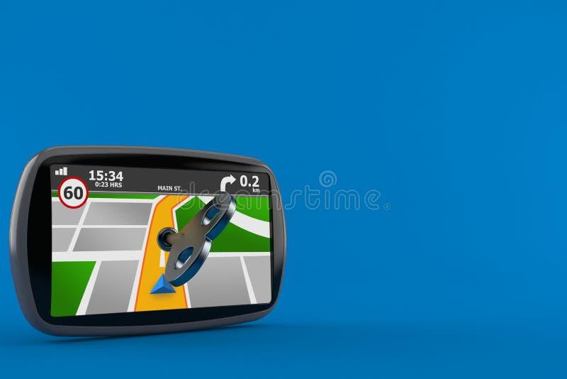 Навигация GPS с ключом clockwork бесплатная иллюстрация