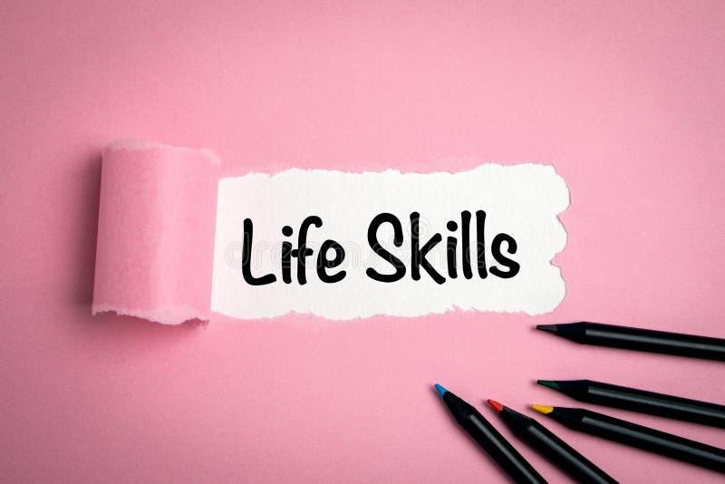 Навыки жизни Резюме, возможности, карьера и образование стоковая фотография