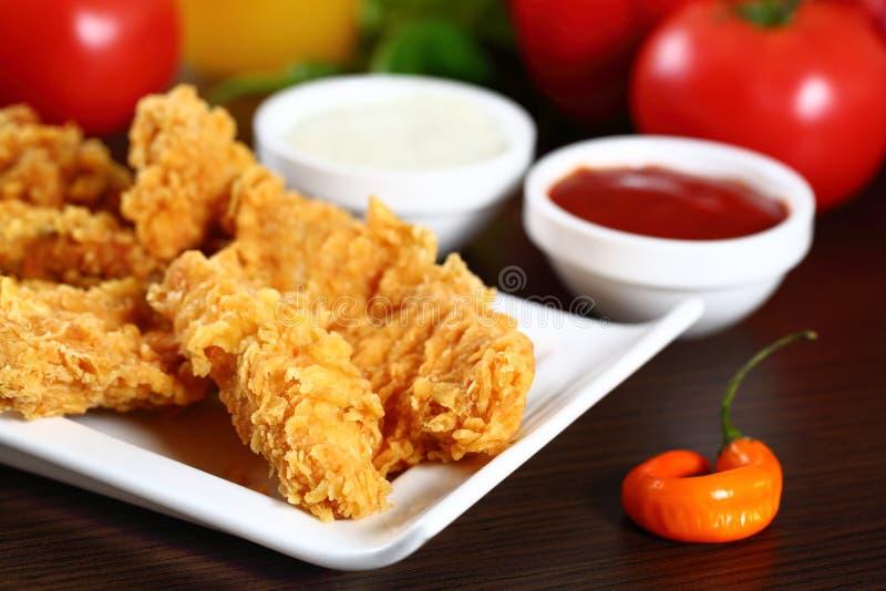 Наггеты цыпленка стоковая фотография rf