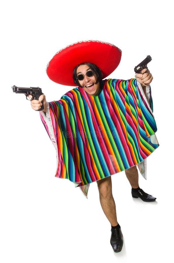 Нагой мексиканский человек изолированный на белизне стоковые фото