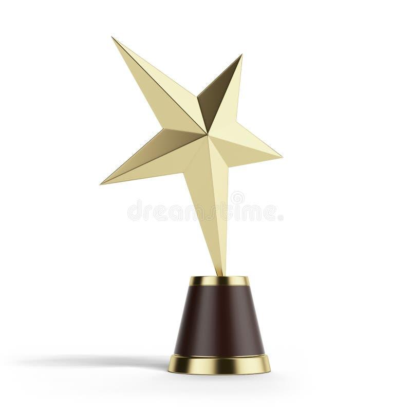 Награда звезды золота иллюстрация вектора