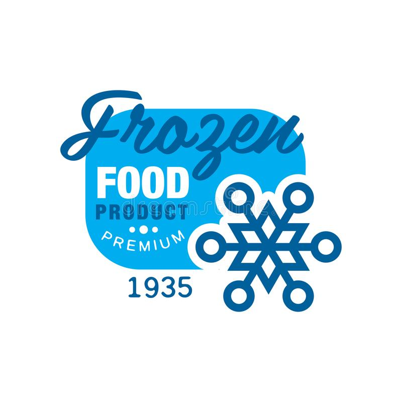 Награда с 1935, стикер пищевого продукта замороженных продуктов с иллюстрацией вектора знака снежинки бесплатная иллюстрация