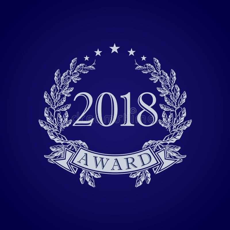 2018 наград Винтажный логотип вектора бесплатная иллюстрация
