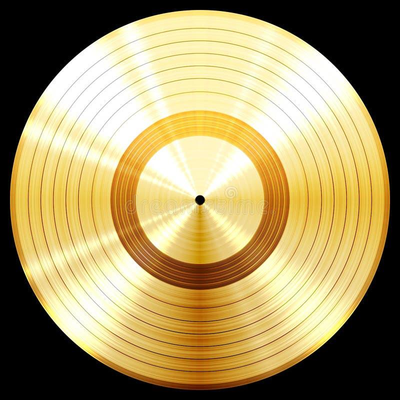Награда диска музыки золота рекордная иллюстрация вектора