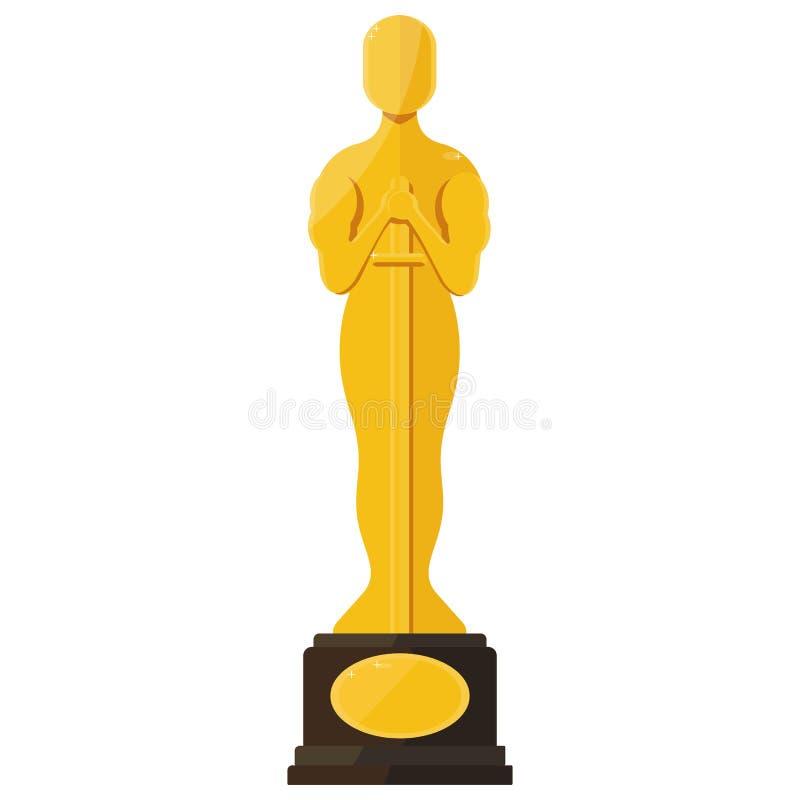 Награда фестиваля фильмов Оскара иллюстрация штока