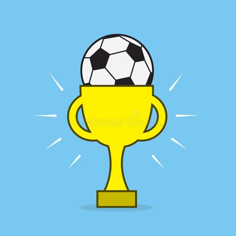 Download Награда футбола иллюстрация вектора. иллюстрации насчитывающей внутрь - 41660872