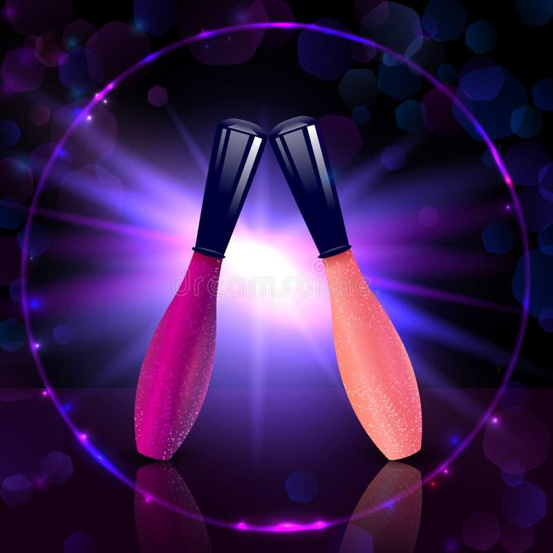 Наградное собрание лоска губы красочного состава косметического бесплатная иллюстрация