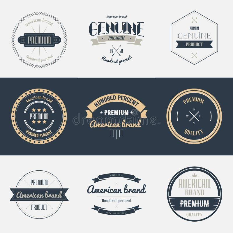 Наградной комплект знаков качества Элементы дизайна брендов бесплатная иллюстрация