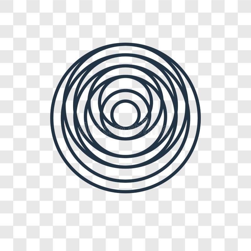 Нагружая значок вектора концепции линейный изолированный на прозрачном backg иллюстрация вектора