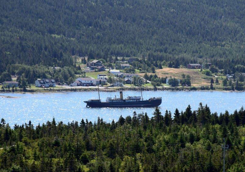 надводное кораблекрушение на гавани Грейсе, NL Канаде стоковые фото