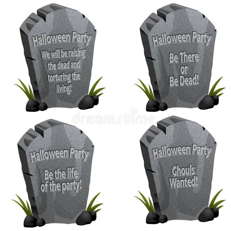 надгробная плита партии halloween бесплатная иллюстрация