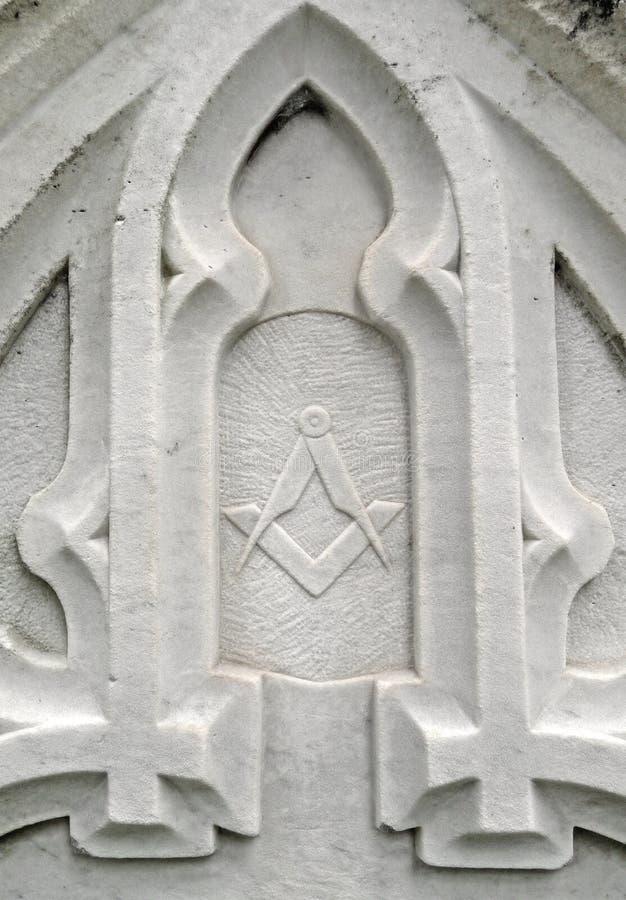 надгробная плита символа детали столетия masonic девятнадцатая стоковое изображение rf