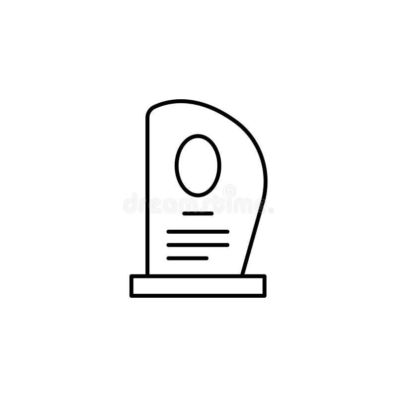 надгробная плита, смерть, серьезный значок плана детальный набор значков иллюстраций смерти r бесплатная иллюстрация