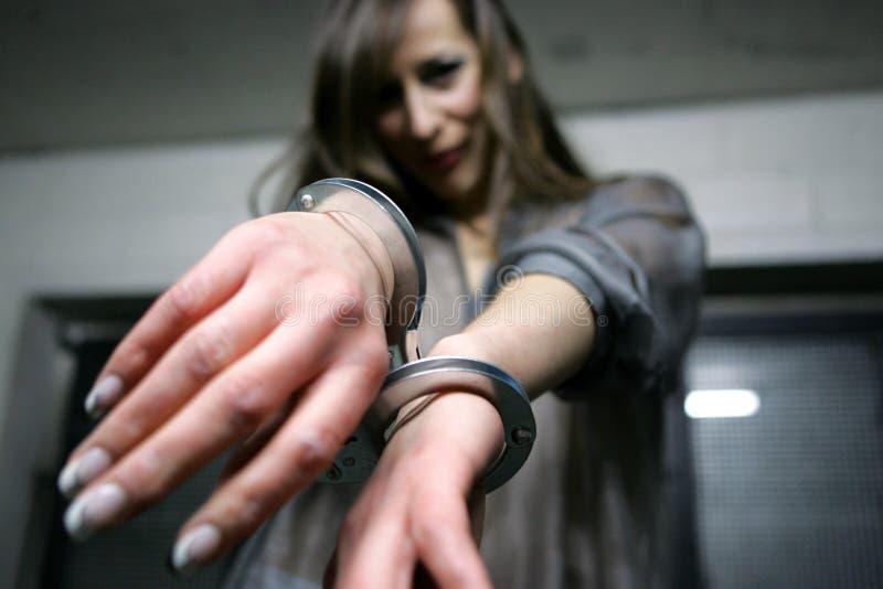 надевано наручники стоковые изображения rf