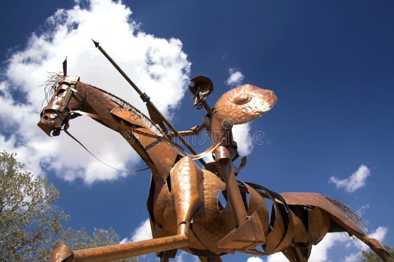 наденьте статую quixote Испании mancha la стоковое фото