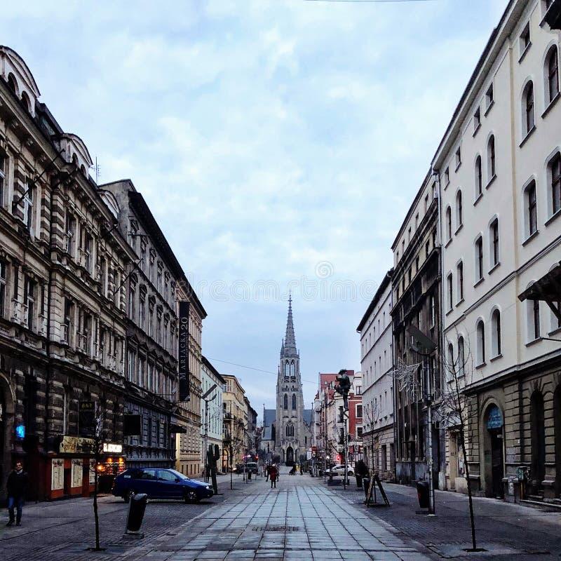 наденьте katowice I сделайте Польшу вспомнить съемку t стоковые фотографии rf
