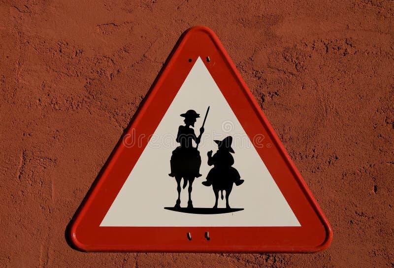 наденьте sancho quijote panza иллюстрация штока