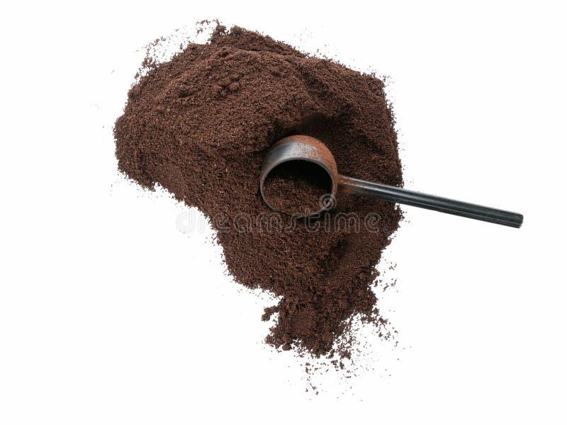 Надземная куча кофе с ветроуловителем стоковые изображения rf