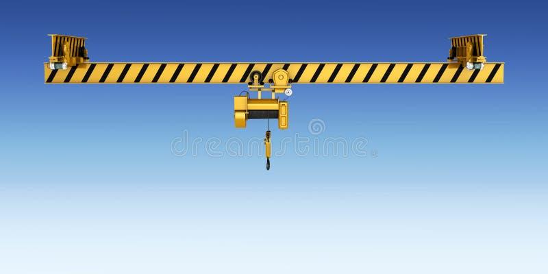 Надземный кран изолированный на голубой предпосылке 3d градиента иллюстрация вектора