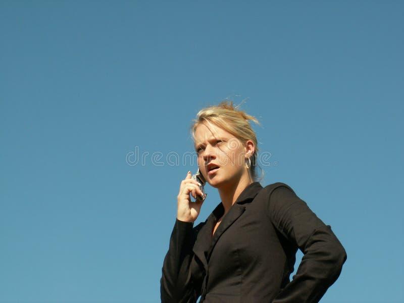 надоеденная женщина дела стоковая фотография rf