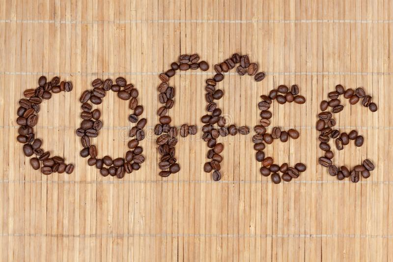Надпись кофе стоковое изображение