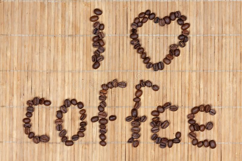 Надпись кофе стоковое изображение rf