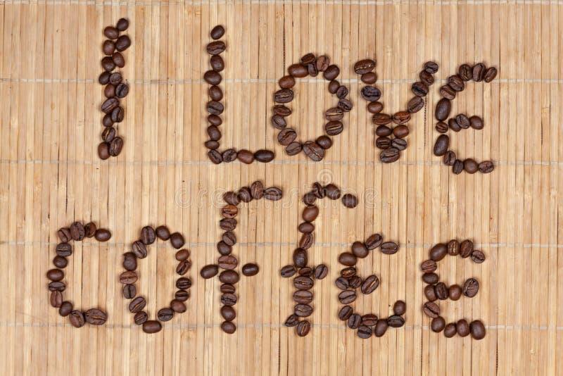 Надпись кофе стоковая фотография