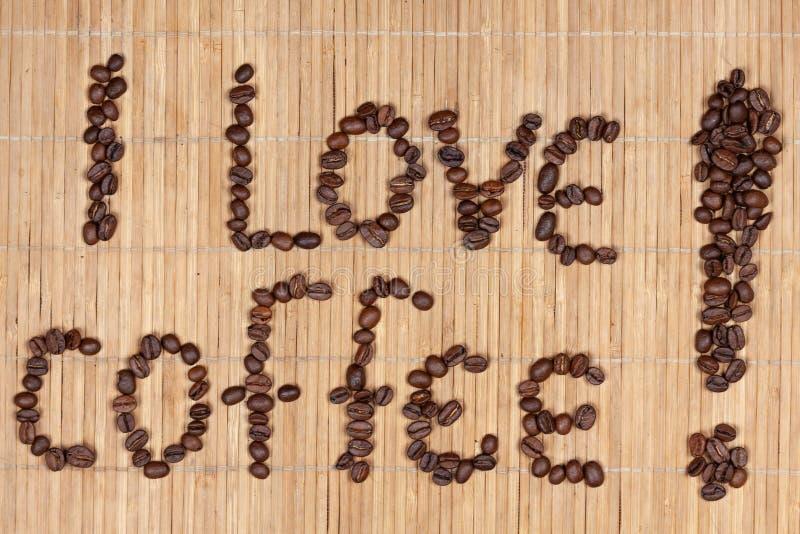 Надпись кофе стоковая фотография rf
