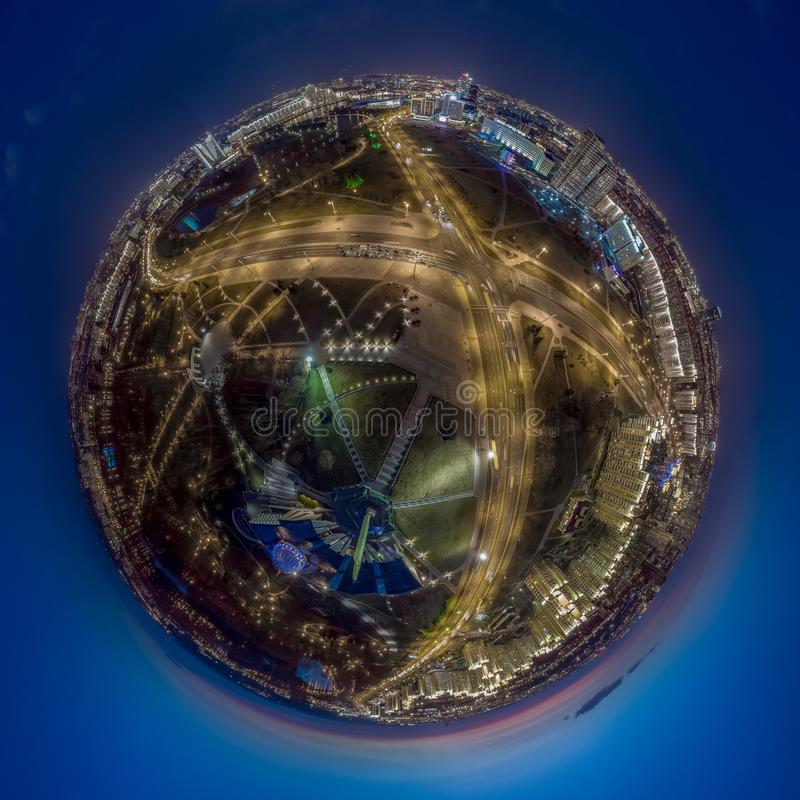 Минск, Беларусь Немногое панорама планеты стоковые фото