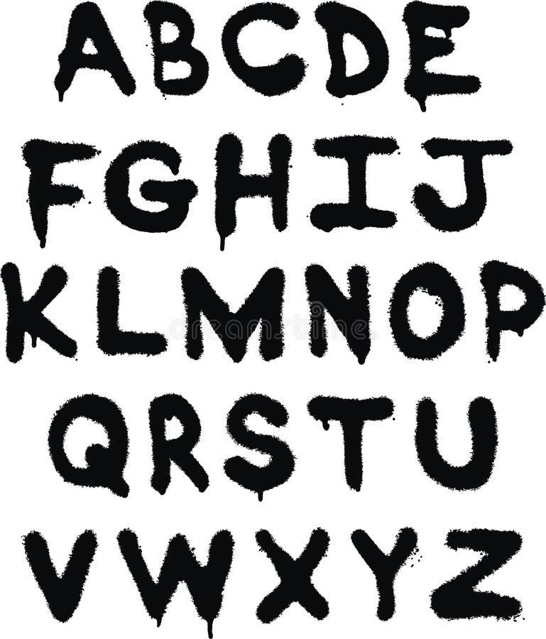 надпись на стенах алфавита иллюстрация вектора