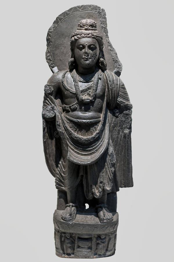 Надпись Maitreya на заднем втором веке стоковое фото