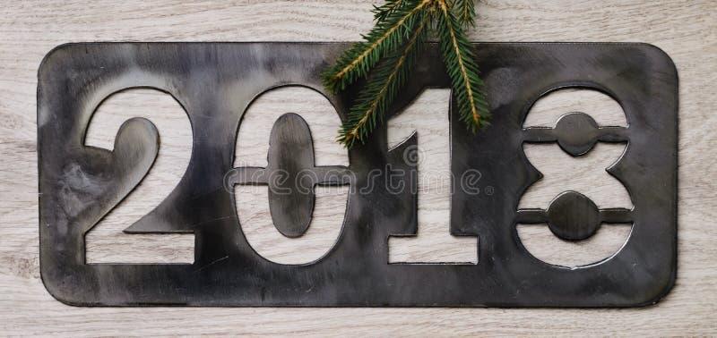 Надпись 2018 ` s Нового Года стоковые фотографии rf