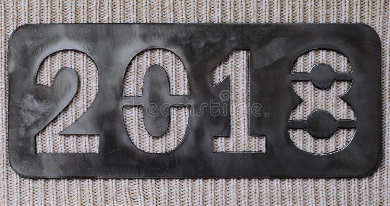 Надпись 2018 ` s Нового Года стоковые изображения