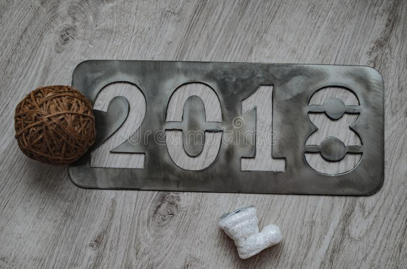 Надпись 2018 ` s Нового Года стоковая фотография rf