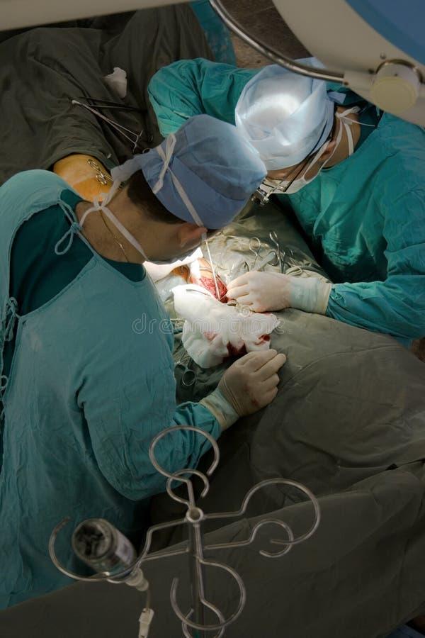 над взглядом хирурга стоковые фотографии rf