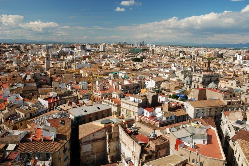 над крышами valencia стоковое фото