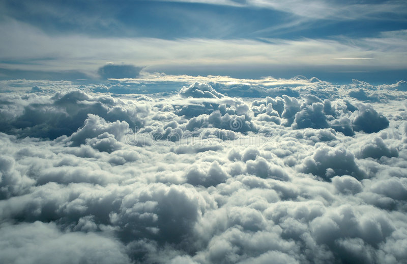 над облаками стоковые фото
