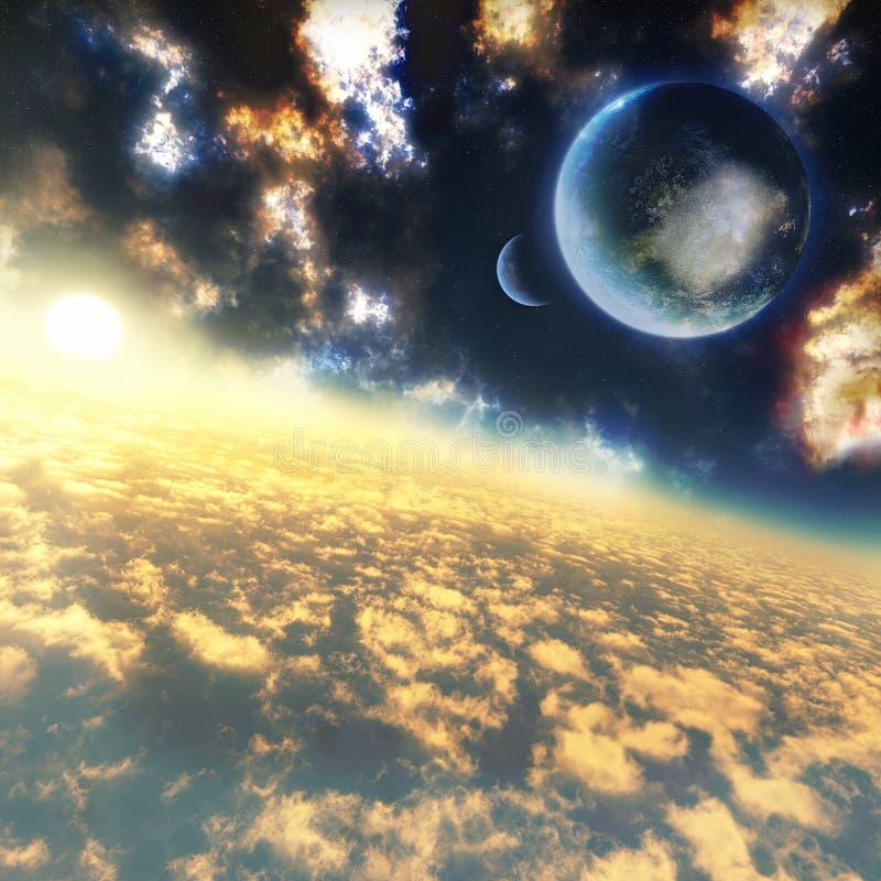 над облаками иллюстрация штока