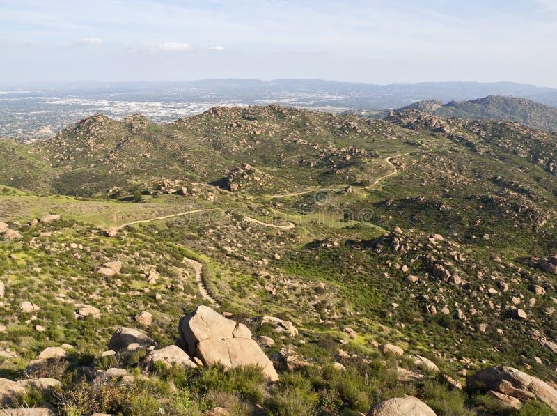 над пиком парка angeles california los утесистым стоковое фото rf