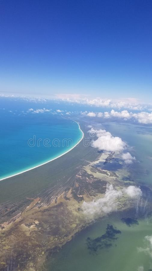 Над Cancun стоковые фотографии rf