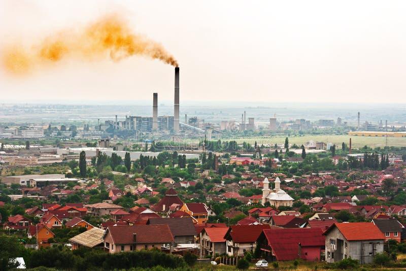над toxic города воздуха стоковое изображение
