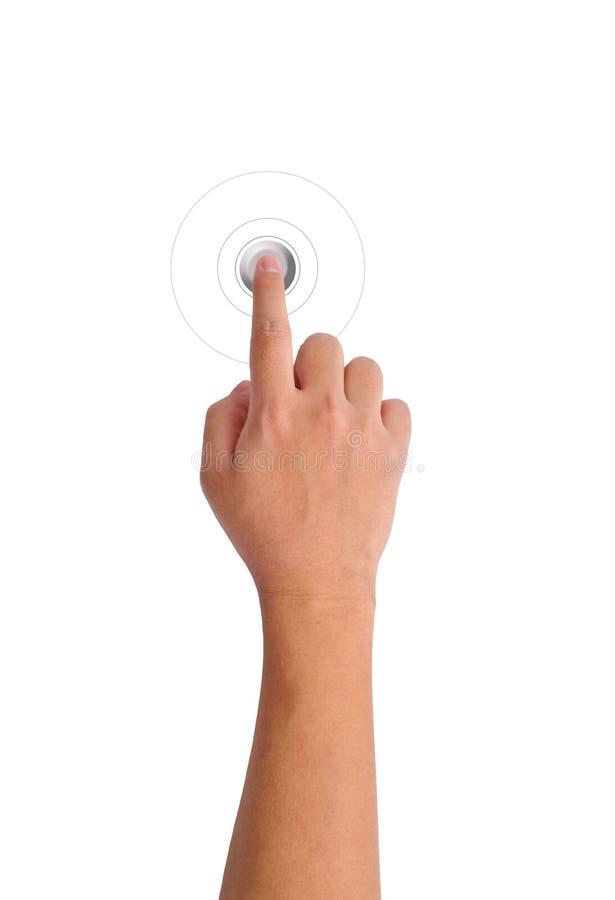 нажимать руки кнопки серый стоковая фотография