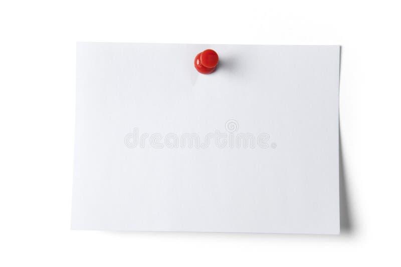 нажим штыря бумаги примечания стоковое изображение rf