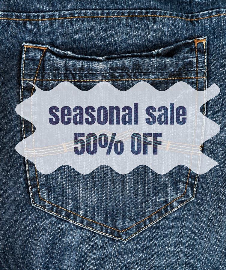назад карман джинсов стоковая фотография