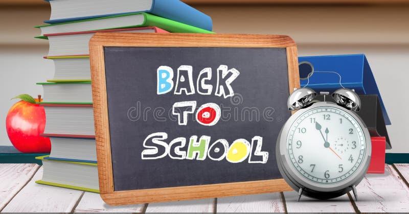 Назад к сочинительству школы на классн классном образования для школы стоковое изображение rf