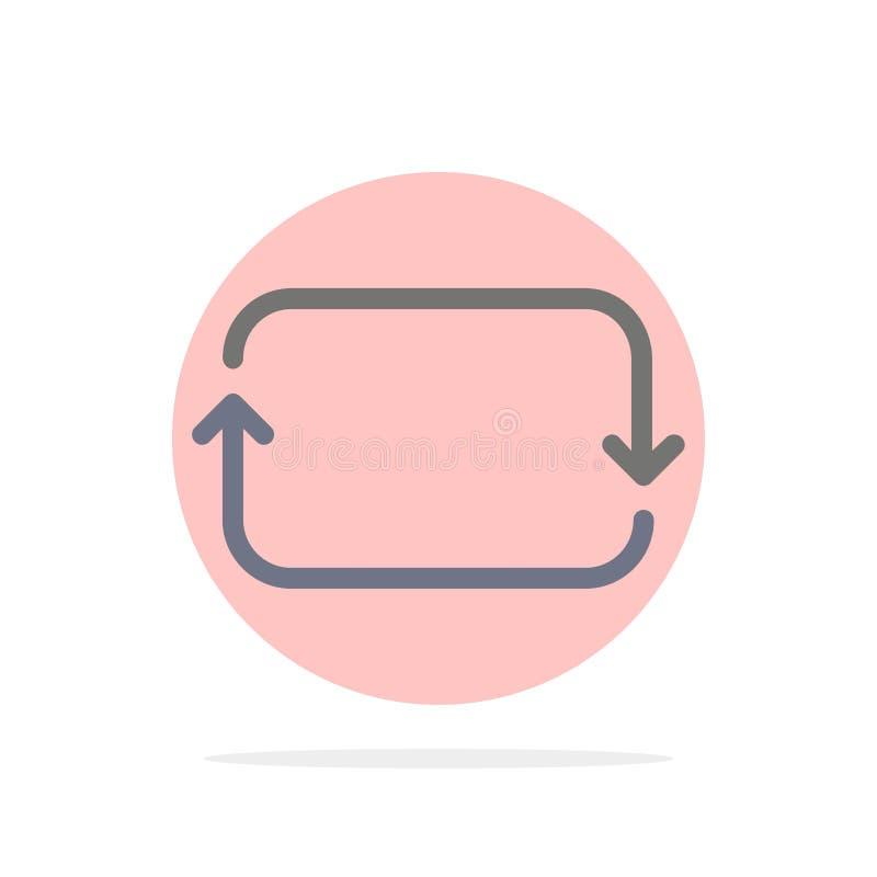 Назад, фронт, Twitter, устанавливает значок цвета абстрактной предпосылки круга плоский иллюстрация штока