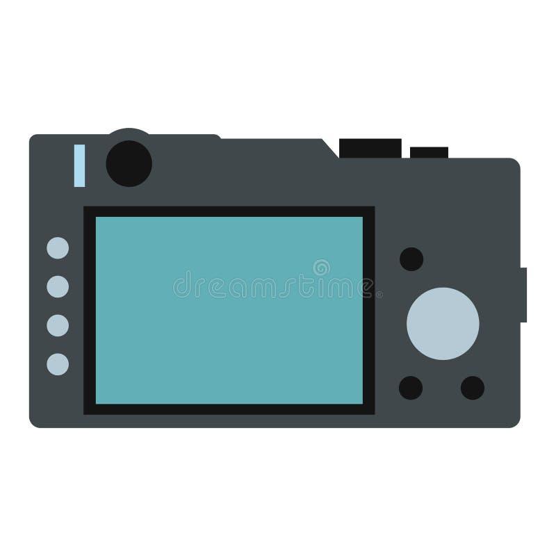Назад значка камеры плоского иллюстрация вектора