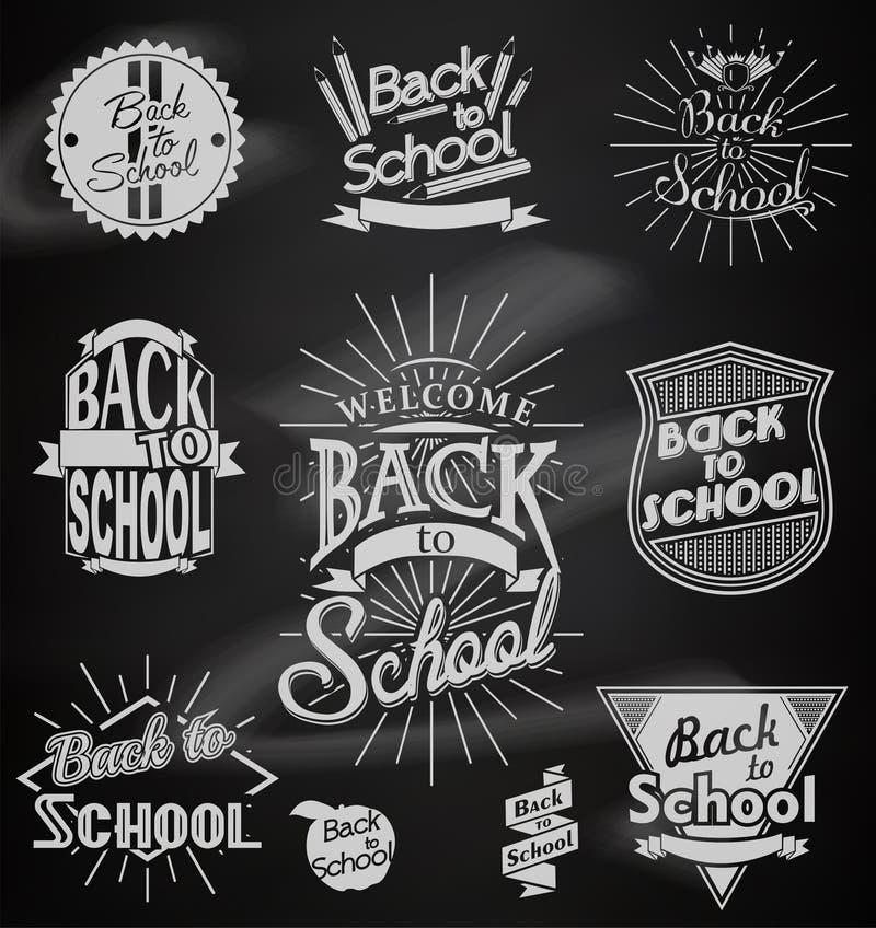 Назад к дизайнам школы каллиграфическим бесплатная иллюстрация