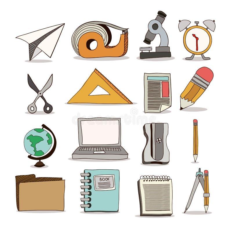 Назад к дизайну школы бесплатная иллюстрация