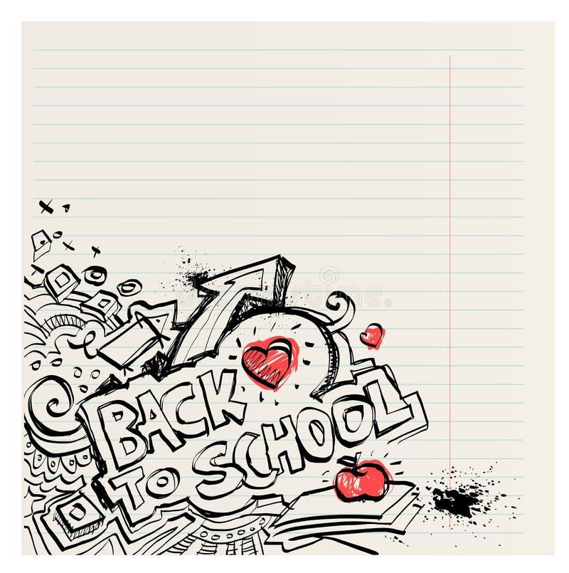 Назад к школе наивный примитив doodles рука нарисованная с чернилами бесплатная иллюстрация
